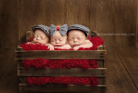 Clarksville, TN  Newborn Triplet Photographer -  Pictured Moments by April
