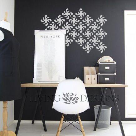 Plantillas decorativas para pintar paredes y crear efectos - Como hacer plantillas para pintar paredes ...