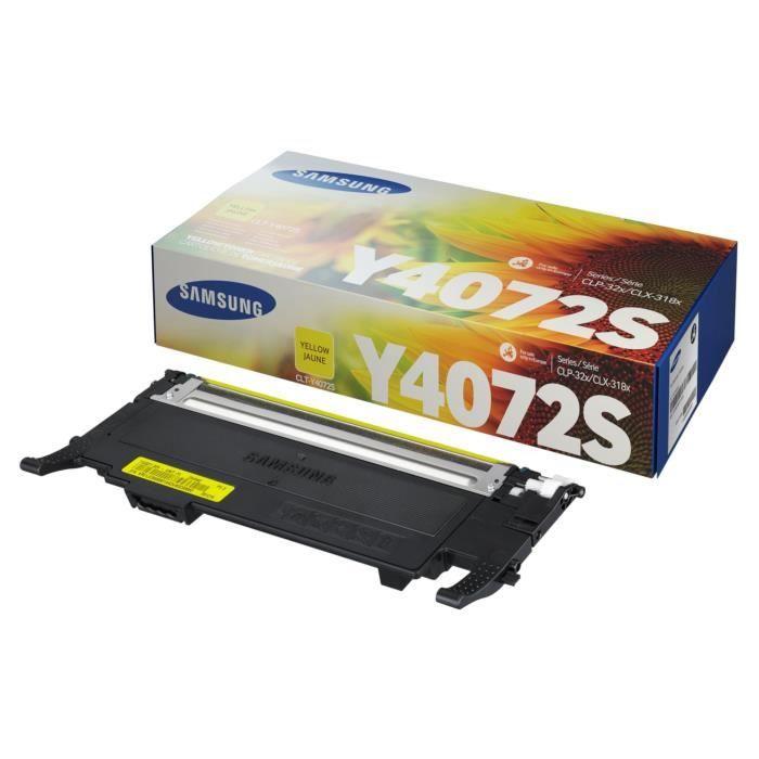Cartouche de toner jaune Samsung CLT-Y4072S (SU472A) pour CLP-320/SS060A/CLX-3185 Series