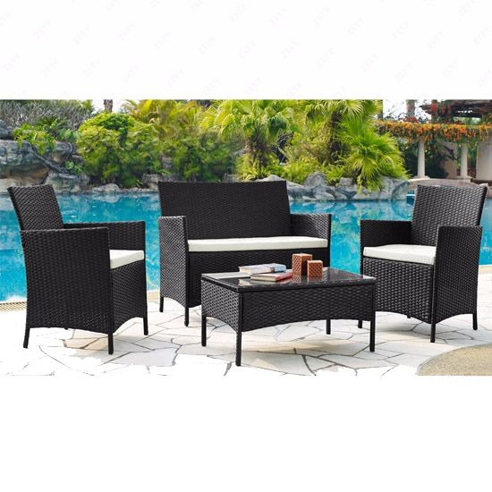 Deal of the Day: 57% Off Rattan 4-Piece Wicker Patio Set