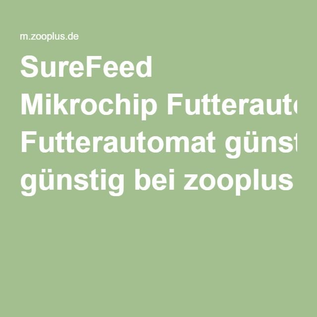 SureFeed Mikrochip Futterautomat günstig bei zooplus