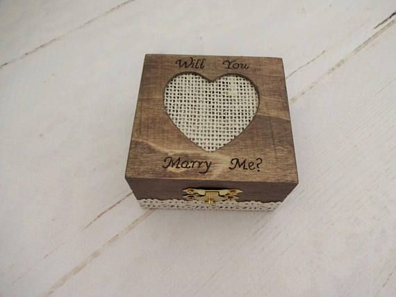 Will You Marry Me Ring Box Rustic Proposal Box Boho
