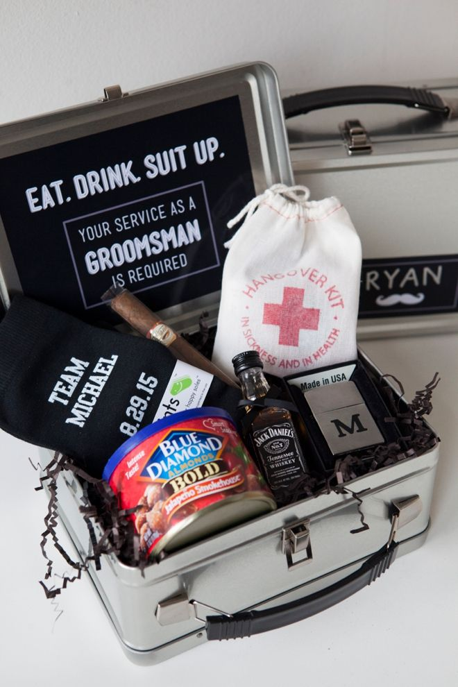 DIY Will You Be My Groomsman? Lunch Box idea! For Michael to ask his friends!