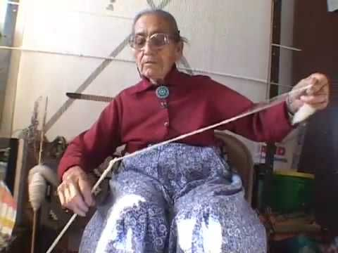 An excerpt from Wolf Creek Productions film, Clara Sherman Navajo Weaver.    Navajo Weaver Clara Sherman teaches how to card and Spin wool in preparation for weaving a rug.  ©Wolf Creek Productions. All Rights Reserved.