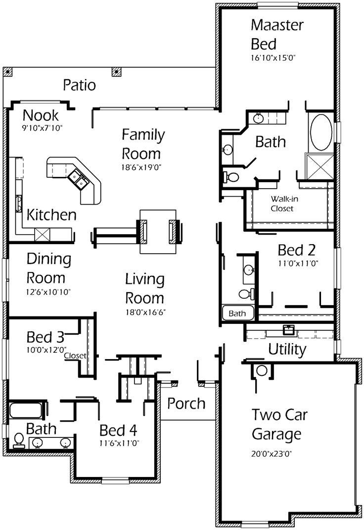28+ [ texas ranch house floor plans ] | texas house plans,1880
