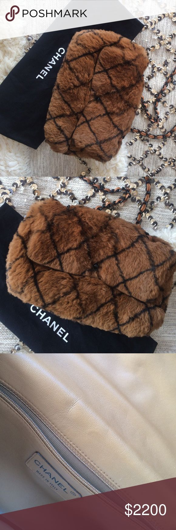 Chanel Fur bag Chanel Fur bag. Excellent like new condition. CHANEL Bags
