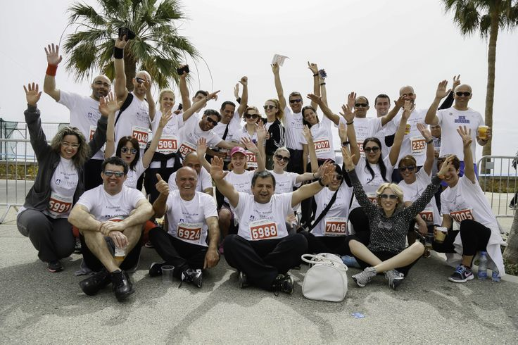 Our team taking part in the Limassol Marathon, raising funds for One Dream One Wish charity