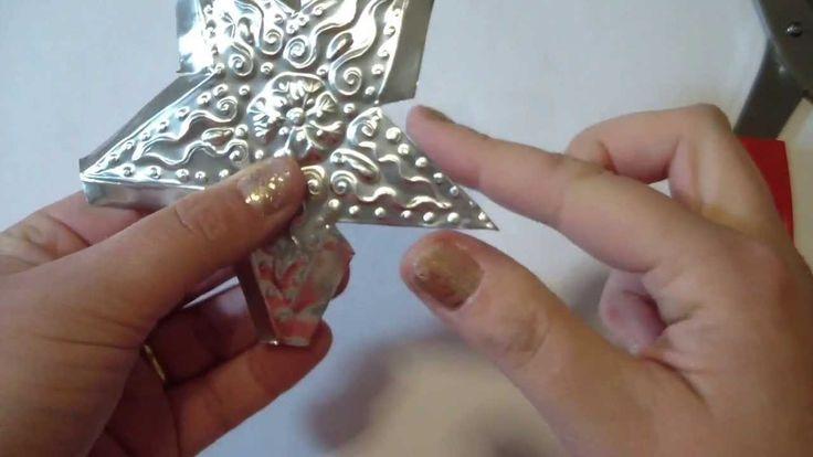 Tutorial decorazioni di Natale (riciclo creativo): STELLINE di alluminio...