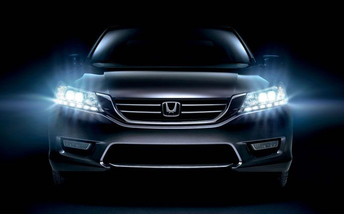 Exterior Photo of 2015 Honda Accord Sedan. The Touring Sedan comes with LED headlights that not only look fantastic but also can improve visibility and reduce power consumption.