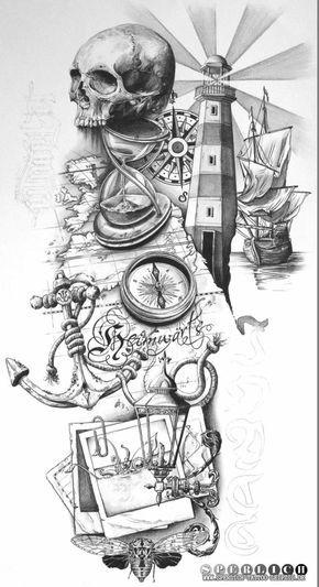 Ronnys Wunsch trotz großer Entfernung immer wieder zurück nach Hause zu finden, haben wir mit verschiedenen Motiven dargestellt. Sein Tattoo werden …
