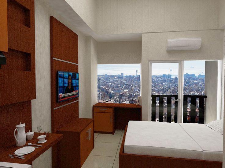 The studio apartemen furnished Bandung