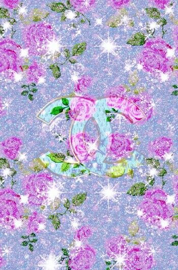 Coco Chanel Wallpaper Iphone Pink Flowers Roses Glitter Glamour Background