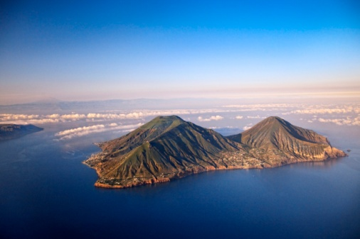 Stock-Fotografie: Aerial view Salina island Aeolian Sicily Italy http://www.touristhotel.it/THC/IT/Excursions.aspx