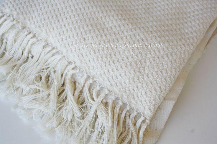 Turkish Towels Organic Peshtemal. 100% Pure Cotton Turkish Bath Beach Towels