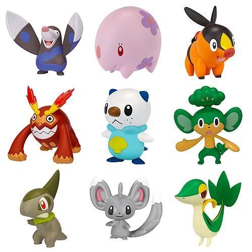 Figuras de Pokemon Blanco y Negro