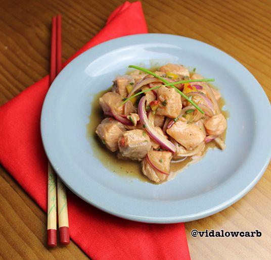 Receitas low carb com peixe: ceviche, nada fica mais paleo do que isso: peixe fresco recém pescado, temperado e consumido na hora.