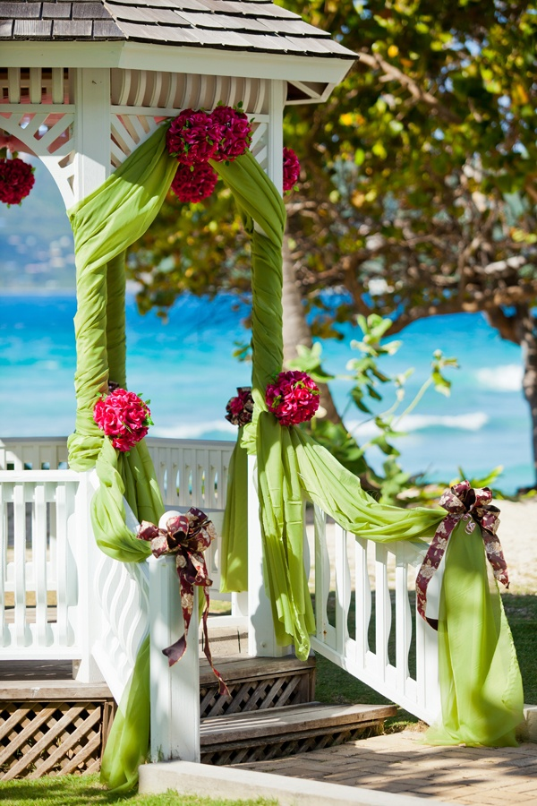 342 best wedding gazebo and arches images on pinterest receptions gorgeous wedding gazebo with views of the ocean junglespirit Image collections