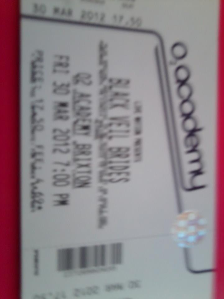 BVB ticket number one for 30th March in London