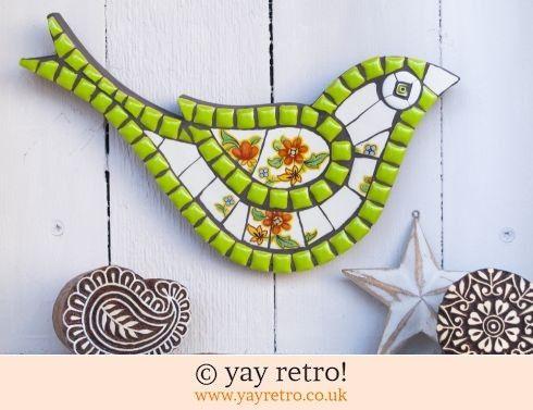 Green & Orange Mosaic Bird (£26.00)