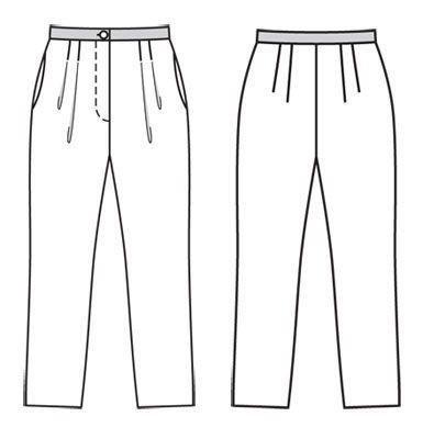Брюки длиной 7/8 - выкройка № 103 A из журнала 2/2012 Burda – выкройки брюк на Burdastyle.ru