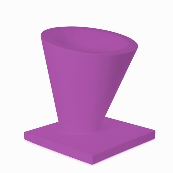 Ulaop by @Plart design #interiordesign #outdoordesign  http://bit.ly/1KcktoW  Conical Pot with a square base.  Polished Appearance, this product is ideal for the furnishing of external environments that as a complement.