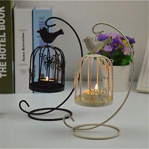 Vintage Metal Bird Cage Lantern Candle Holder Candlestick Room Wedding Decor | eBay