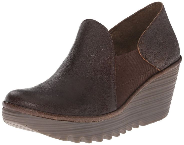 Fly London 'Yua' Womens Platform Wedge Pum Olive Brown Shoes Size EU 41 US  #FlyLondon #PlatformsWedges