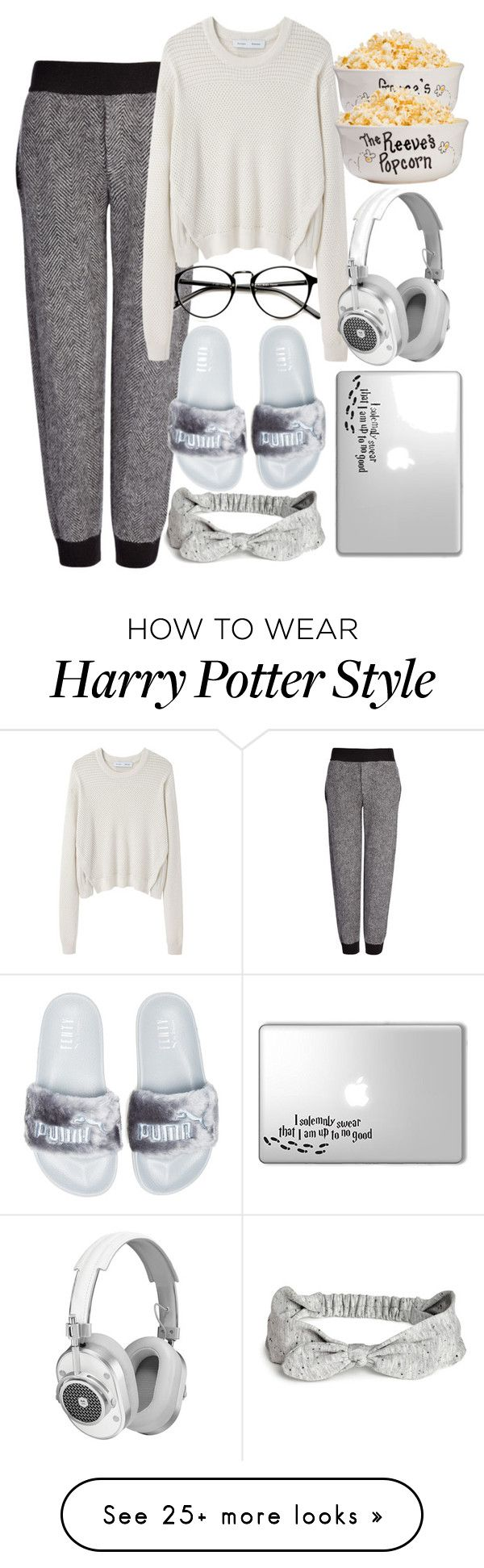 """movie day"" by loyalrobyn on Polyvore featuring Joseph, Proenza Schouler, Puma and Master & Dynamic"