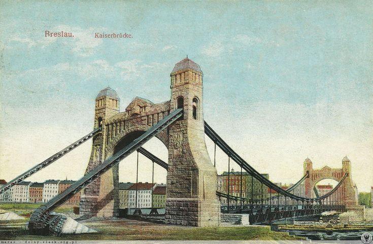 Most Grunwaldzki po zakończeniu budowy, jeszcze bez ulicy dojazdowej.