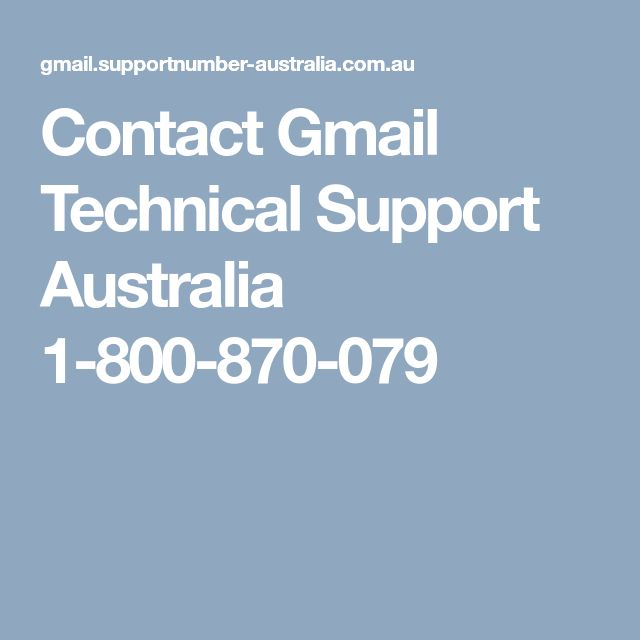 Contact Gmail Technical Support Australia 1-800-870-079