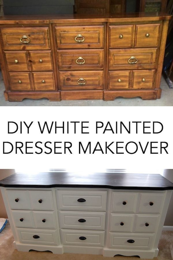 Diy White Painted Dresser Before And After White Painted Dressers White Painted Furniture Painted Bedroom Furniture