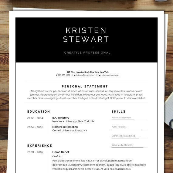 9 best Resume Templates from City Press images on Pinterest City - home depot resume