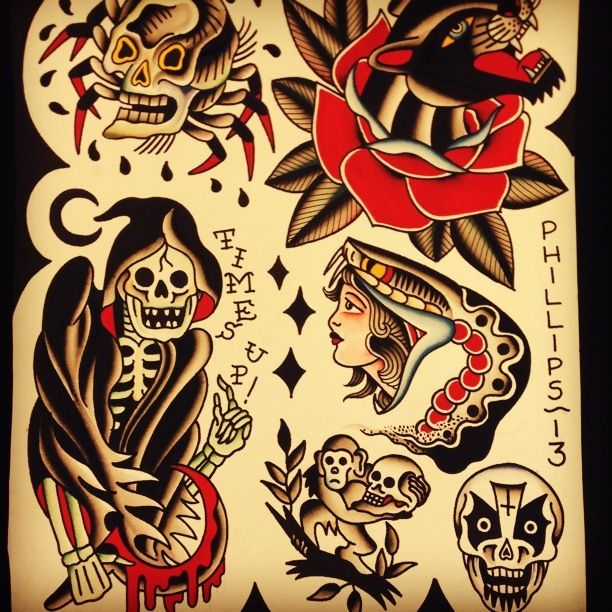 Chameleon Arts Tattoo Flash: 1000+ Images About FLASH VINTAGE !!!! On Pinterest