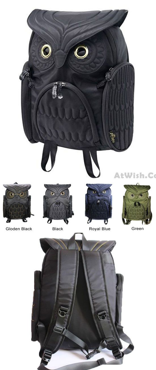 Fashion Street Cool Owl Shape Solid Computer Backpack School Bag Travel Bag for big sale! #owl #cute #outdoor #large #school #backpack #bag #cute #canvas #rucksack #travel