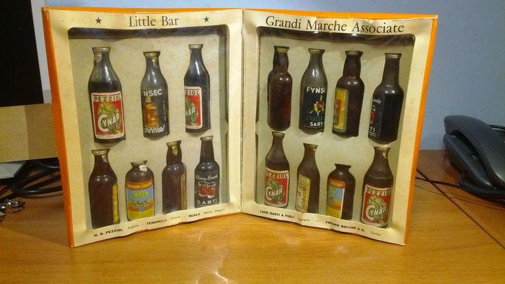 Miniature Mignon Sarti Little Bar Grandi Marche Associate 15 Bottigliette Cynar | eBay