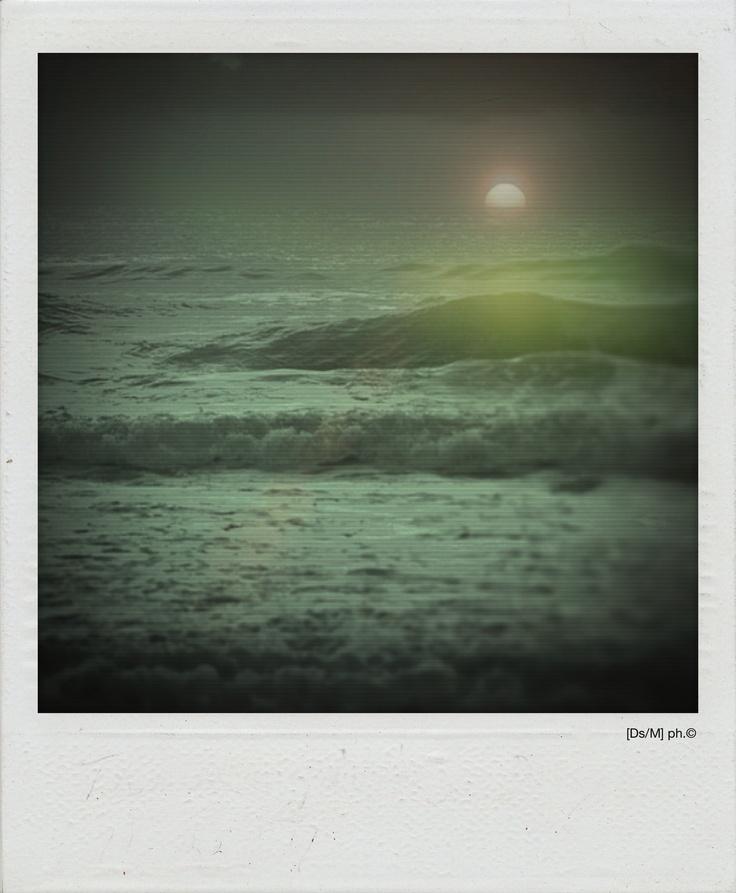 MARE ALIENO Il mio pensiero è come un mare alieno, bulimico,  che rende,  ritorna. Sistemato a forza nella nebbia dei miei occhi,  è ingordo, [in]gestibile sistema le tue ciocche di capelli sulla spiaggia, quelle che hanno l'odore di una tempesta e le mie impronte sulla radice, quelle avute,  segno tangibile di un orgasmo.  E ancora.   http://paralleluniverseinpolaroid.wordpress.com