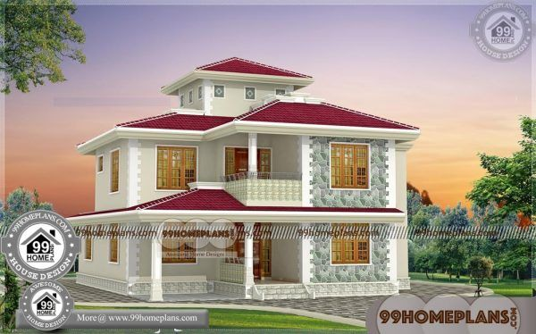 House Plans For Low Budget 75 Two Storey House With Terrace Designs House Plans Indian House Plans Two Storey House