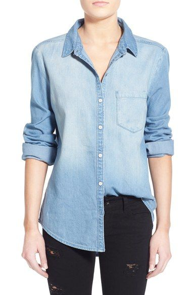 BP. Cotton Chambray Shirt available at #Nordstrom