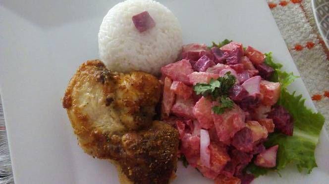 Ensalada Rusa Peruana Con Pollo Frito A Lo Carmelita Receta De Carmen Capella Receta Pollo Frito Ensalada Rusa Comida Peruana