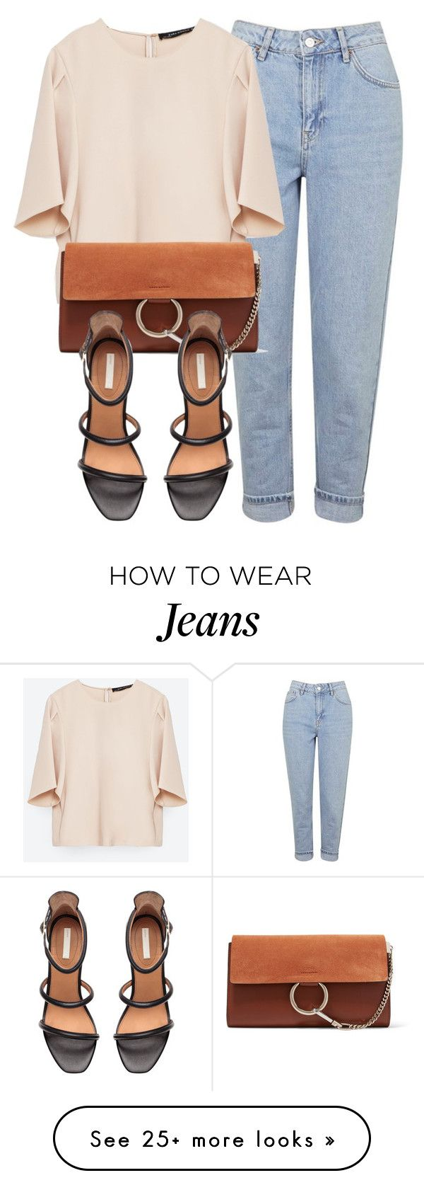 """Untitled #5783"" by laurenmboot on Polyvore featuring Topshop, Zara, Chloé and H&M"