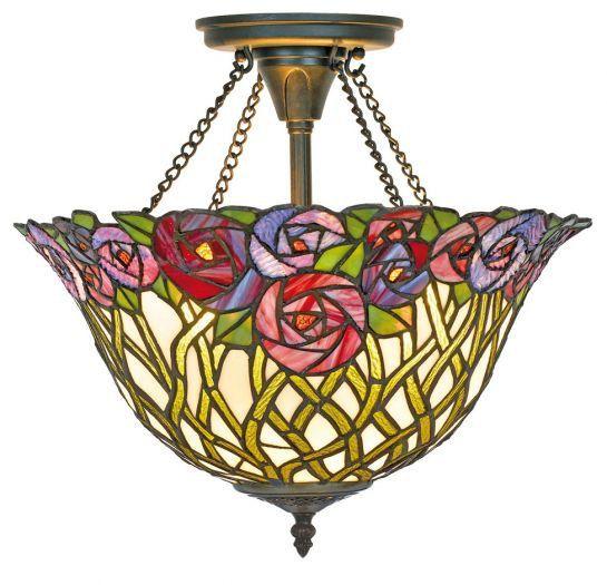 Casa Padrino Tiffany Deckenleuchte / Hängeleuchte Mosaik Glas Durchmesser 40 cm - Leuchte Lampe Leuchten, Lüster & Lampen Deckenleuchten