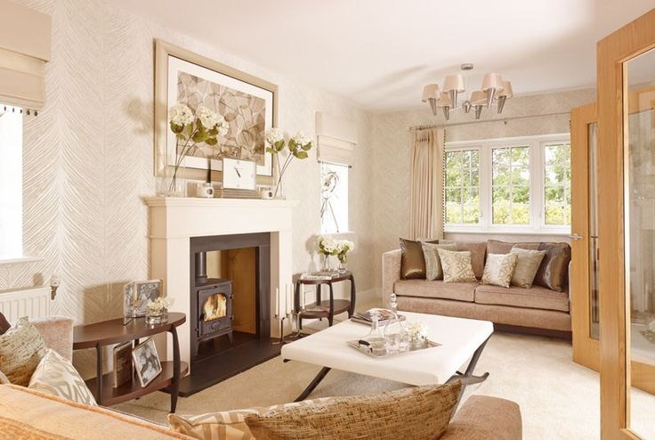 This beautifully crafted living room at our St Irvyne's development in Broadbridge Heath uses a log burner as the centerpiece of the room. The warm tones, keep this room cosy and welcoming.