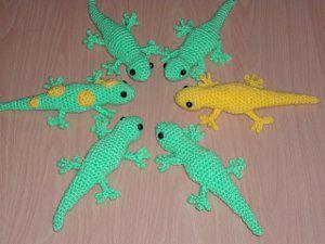 Crochet pattern   Free Gecko