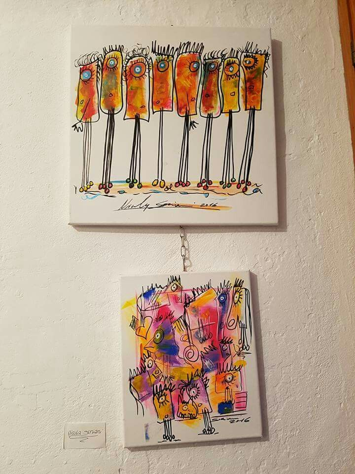 Opere di NICOLA SORIANI in esposizione presso la Badalucco art gallery,  marzo 2017