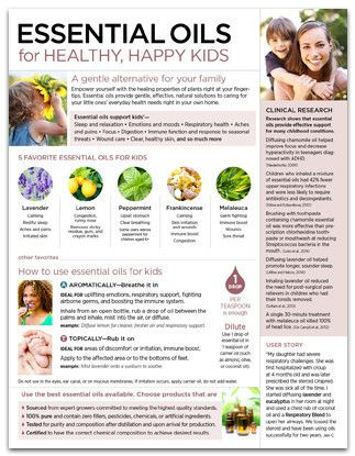 Essential Oils For Healthy Happy Kids Tear Pad Kid