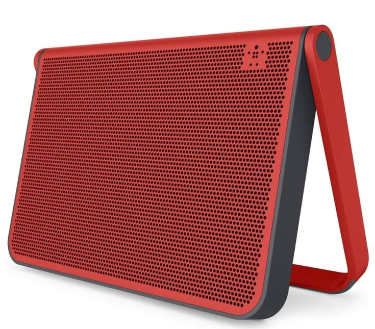 portable speakers. belkin fusive bluetooth wireless speaker - a slim portable that produces excellent audio by using speakers