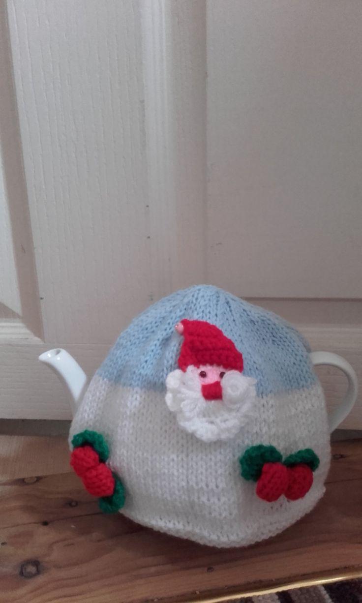 Knitted tea cosy , christmas tea cosy, medium tea cosy , large tea cosy. Ready to ship by crochetfifi on Etsy
