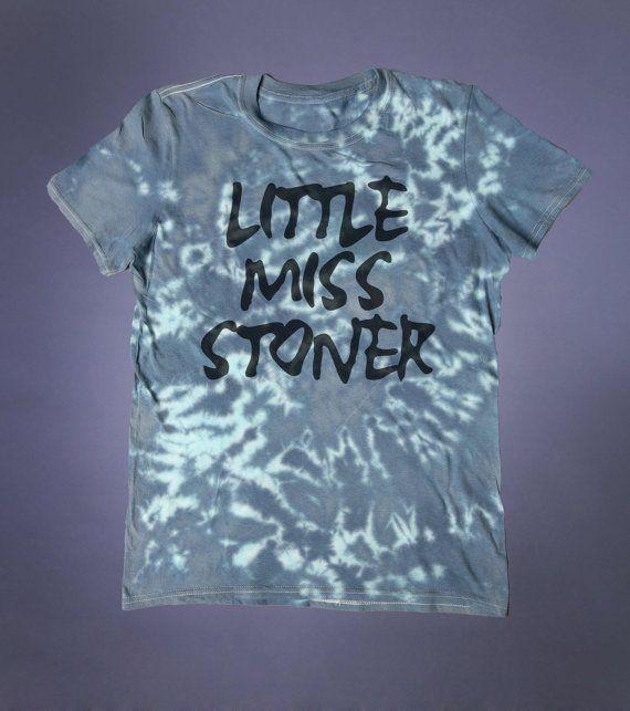 Little Miss Stoner Slogan Tee Grunge Weed by GloomAndSound on Etsy