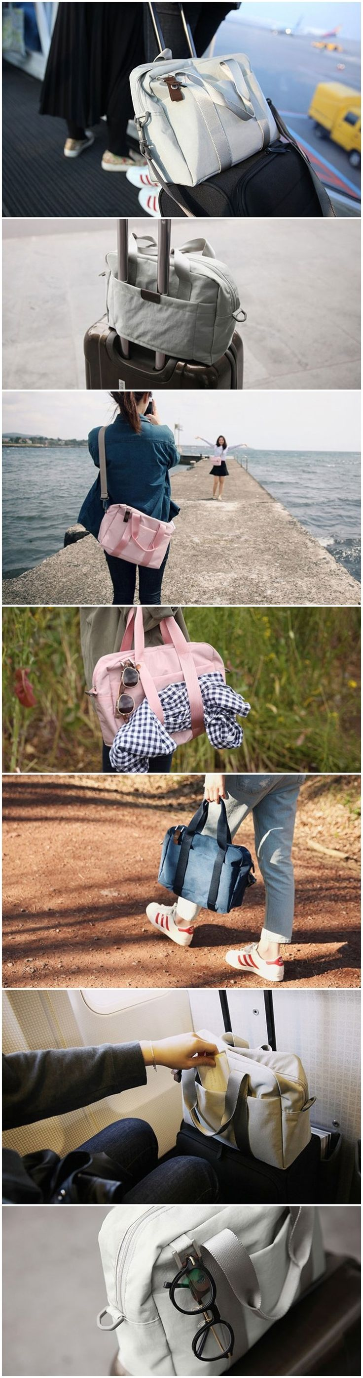 Convenient and fashionable design weekender bag for travelers in 5 colors