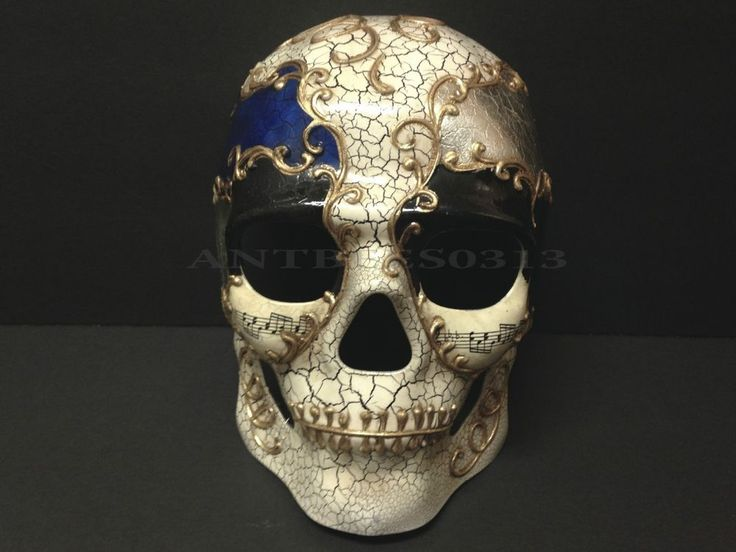 New Dia DeLos Muertos Day Of The Dead Men's Full Face Venetian Masquerade Mask in Clothing, Shoes & Accessories, Costumes, Reenactment, Theater, Accessories | eBay